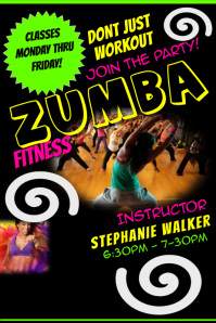 Customizable design templates for zumba fitness party postermywall zumba stopboris Image collections
