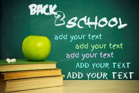 Chalkboard Books Apple School Poster Flyer