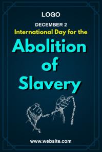 Abolition of Slavery Template Plakat