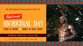 Aboriginal Day Event Facebook Cover Video template