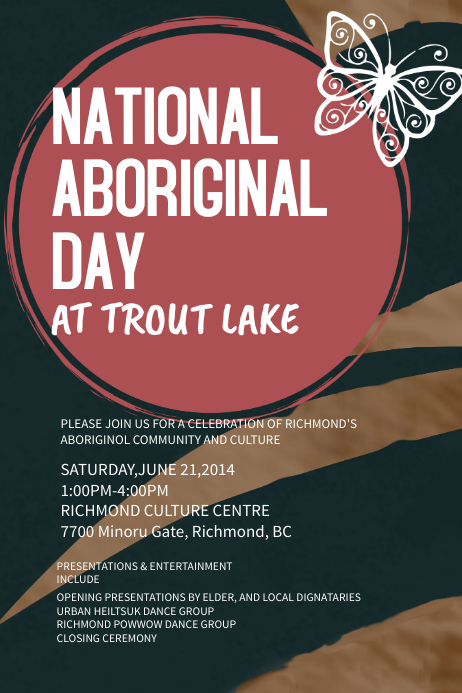 Aboriginal Day Event Poster Template