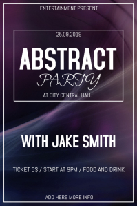Abstact party flyer template