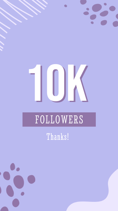 Abstract 10K Followers Thank You Instagram St template