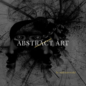 Abstract Art Black and White CD Cover Art