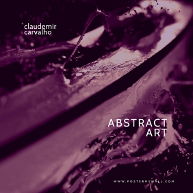 Abstract Art Purple Mixtape Cover