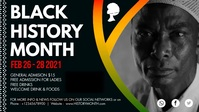 Abstract Black History Month Facebook Cover V Facebook-omslagvideo (16: 9) template