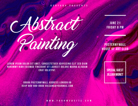 Abstract Colorful Landscape Flyer Template