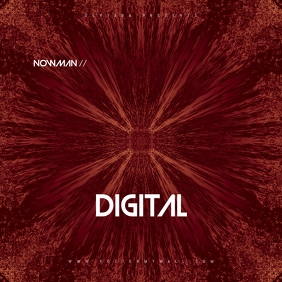 Abstract Digital CD Cover Art