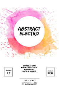 abstract electro party flyer template