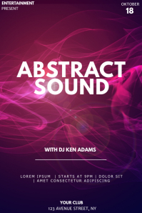 Abstract event flyer template Poster