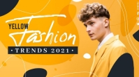 Abstract fashion youtube thumbnail template