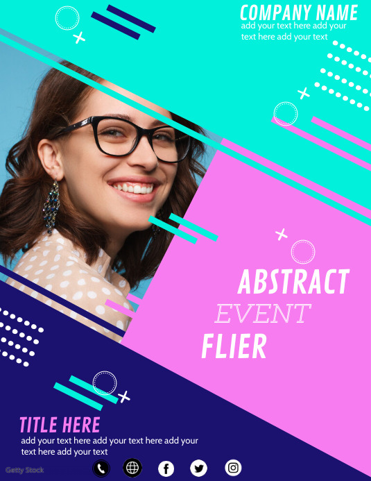 ABSTRACT FLIER TEMPLATE