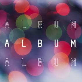 Abstract gradient particles album cover Okładka albumu template