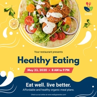 Abstract Healthy Restaurant Food Instagram Po template