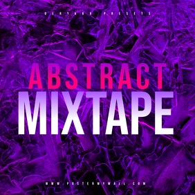 Abstract Ice Mixtape CD Cover