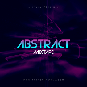 Abstract Mixtape CD Cover Template