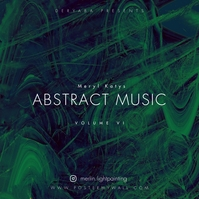 Abstract Music CD Cover Ikhava ye-Albhamu template