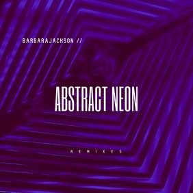 Abstract Neon CD Cover Template