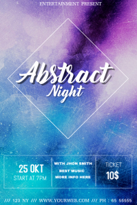 Abstract night event flyer template