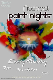 Abstract Paint Nights Poster Template