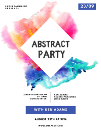 Abstract Party Flyer Template Volante (Carta US)