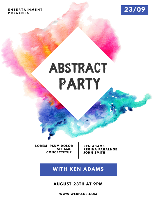 Abstract Party Flyer Template Pamflet (VSA Brief)