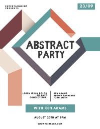 Abstract Party Flyer Template