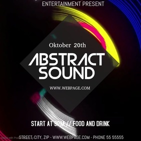 Abstract party video flyer template