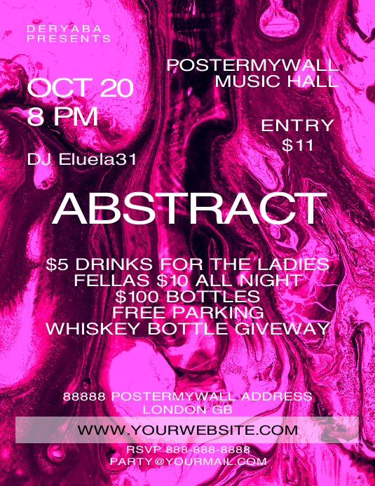 Abstract Pink Purple Flyer Template