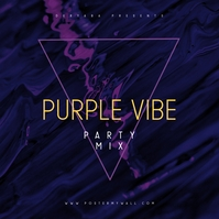Abstract Purple Vibe CD Album Cover Template