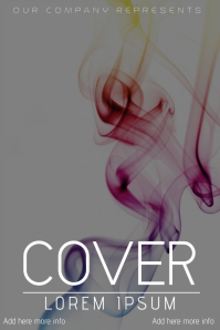 abstract smokie book cover template