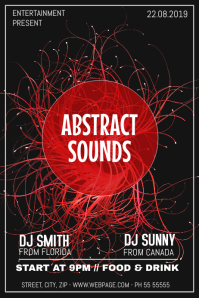Abstract sound party night flyer template