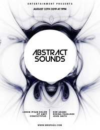 Abstract Sounds Flyer Design Template