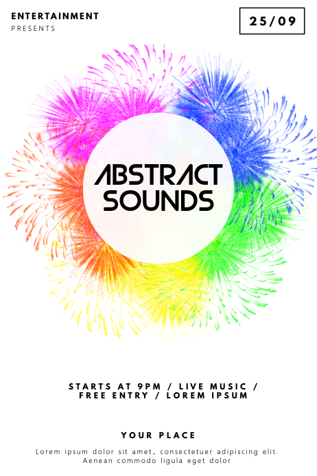 Abstract sounds Flyer Template