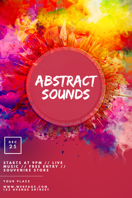 Abstract Sounds Party Template Cartaz