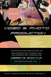 Abstract Video Photography Flyers Poster template