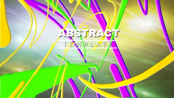 ABSTRACT VIDEO TEMPLATE Digitale display (16:9)