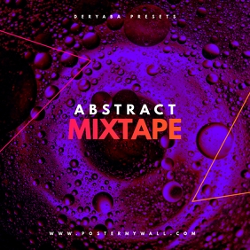 Abstract Water Mixtape CD Cover