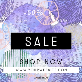 Abstract Watercolor Sale Instagram Banner