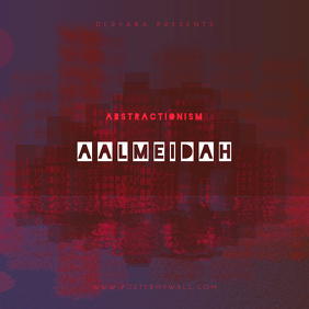 Abstractionism City CD Cover Art Template