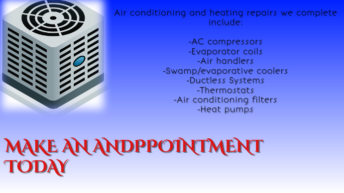 AC and Heating Digitale display (16:9) template
