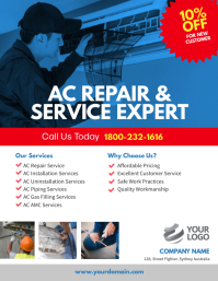 AC Repair & Services Flyer Template Iflaya (Incwadi ye-US)