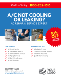 AC Repair & Services Flyer Template Iflaya (Incwadi ye-US)