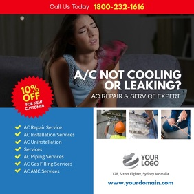 AC Repair & Services Instagram Template