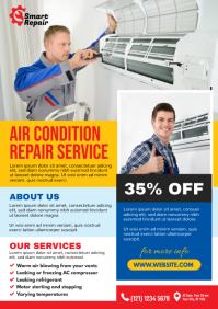 AC Repair Flyer A4 template