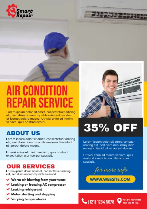 AC Repair Services A4 template