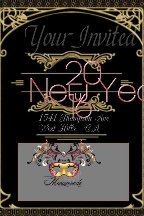 new years eve templte