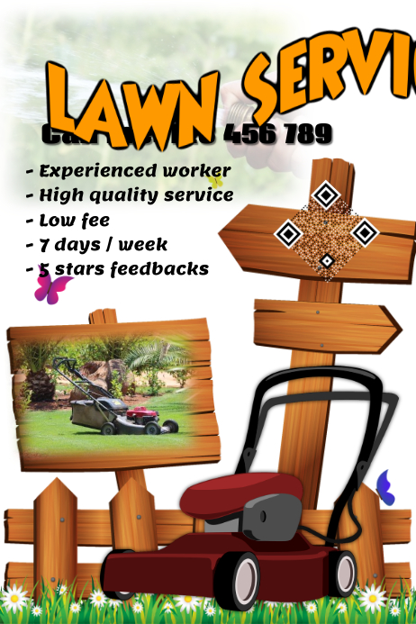 Beautiful lawn service flyer - PosterMyWall