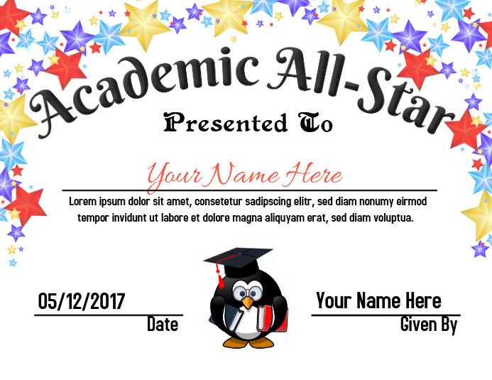 Academic All-Star Award