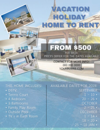 Accommodation Flyer Template Folheto (US Letter)